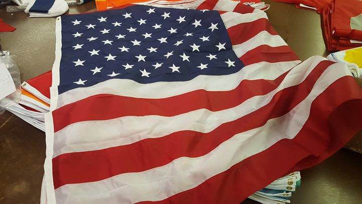 Thank you to Euclid City Schools for the big U.S. Flag ...