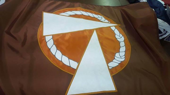 Custom sewn flag for Padua Franciscan High School. #Ohi...