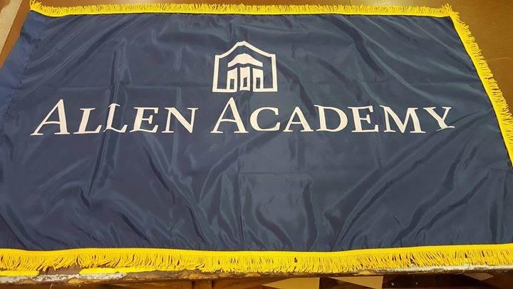 Custom Indoor Flags. Thank you to Allen Academy for buy...