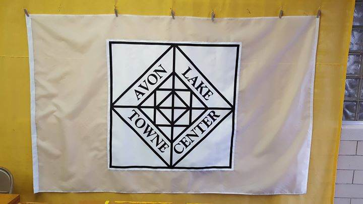 Custom flag for Avon Lake Towne Center. #OhioMade
