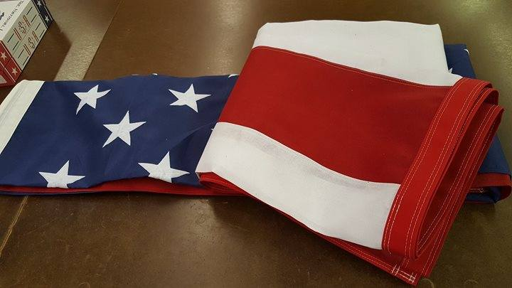 Shipped out another sunbrella reinforced U.S. flag toda...