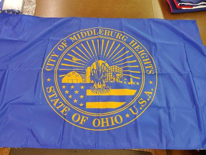 25 Custom flags completed for The Middleburg Heights Re...
