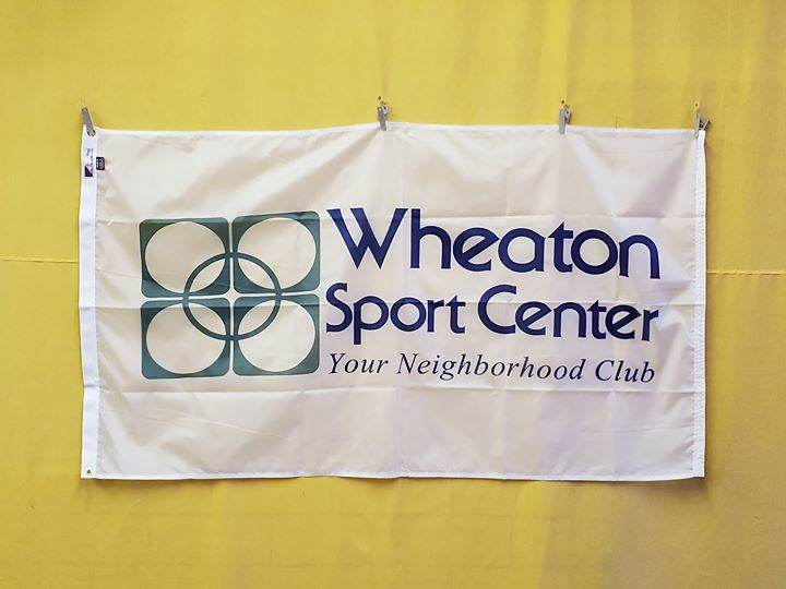 Custom flags for Wheaton Sport Center. Thank you for bu...