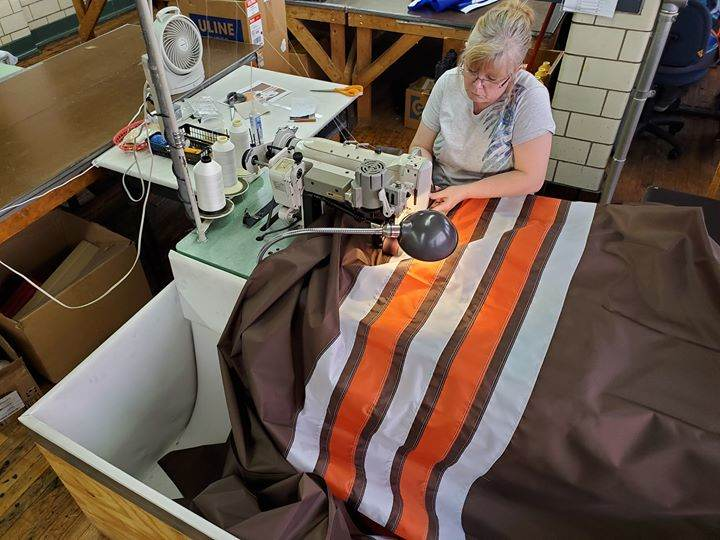 Have to get a sewn #Browns flag ready for the weekend. ...